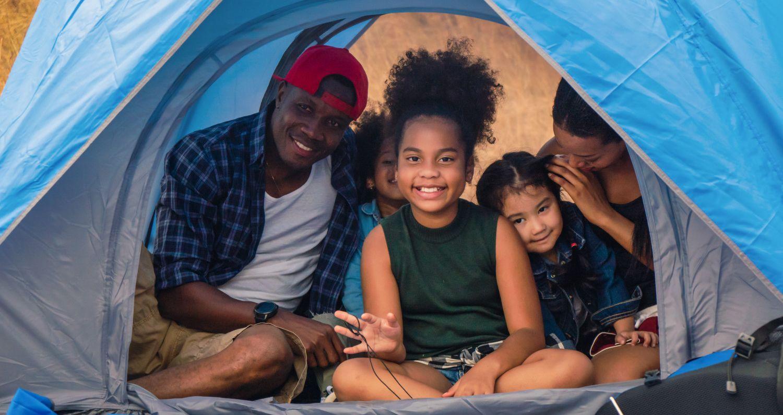 acampada en familia